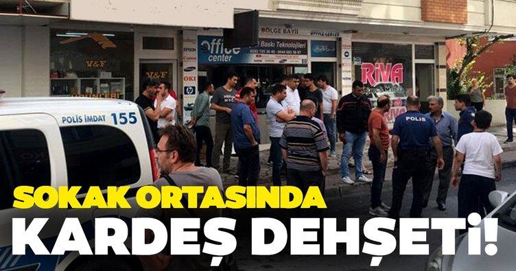 Tekirdağ'ın Çerkezköy ilçesinde sokak ortasında kardeş dehşeti!