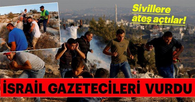 İsrail askerleri AA ve AFP muhabirlerini yaraladı