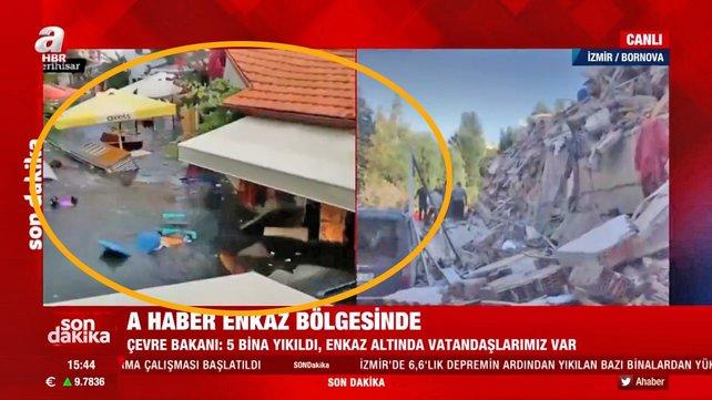 İzmir'de deprem sonrası tsunami! Dehşet anları kamerada | Video