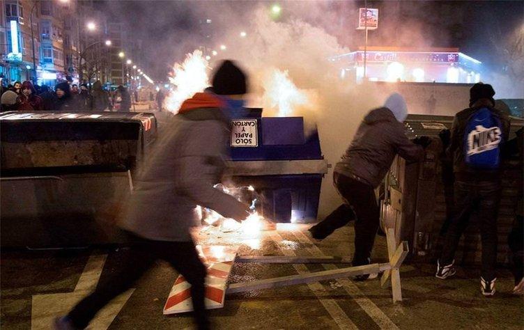 Madrid'de olaylı gece