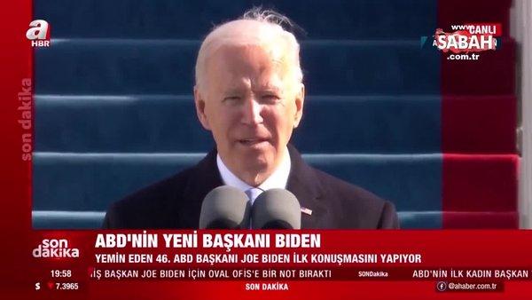 Son Dakika: ABD'nin 46'ıncı Başkanı Joe Biden'ın ilk konuşması | Video