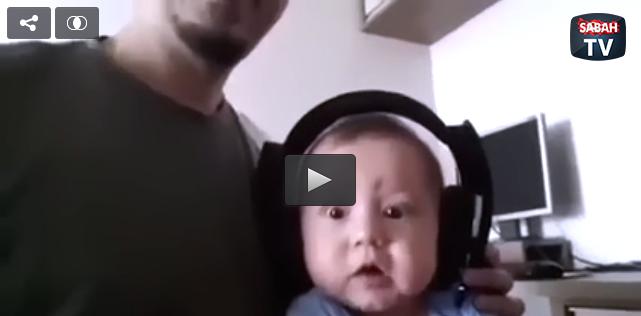 İlk defa rock müziğe maruz kalan bebek