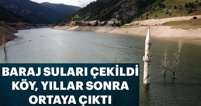 Baraj suları çekildi, köy yıllar sonra ortaya çıktı