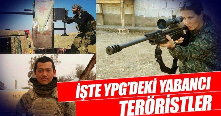 İşte YPG'deki yabancı teröristler