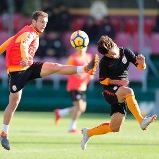Galatasaray'ın antrenman maçında büyük şok!