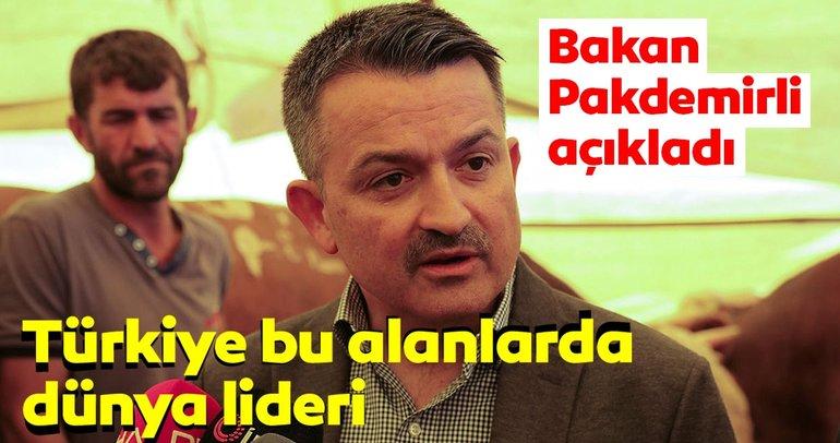 Bakan Pakdemirli: Türkiye 4 ürünün üretim ve ihracatında dünyada lider