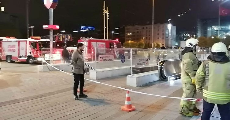 Taksim metro istasyonu intihar girişim nedeniyle kapatıldı