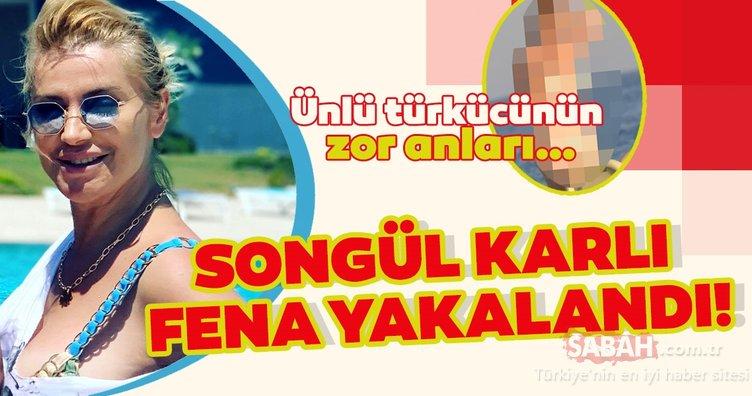 Songül Karlı'nın bikini kazası… Ünlü türkücü fena yakalandı!