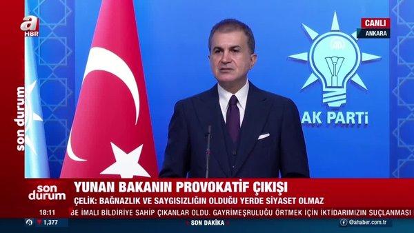 SON DAKİKA HABERİ: AK Parti Sözcüsü Ömer Çelik, Dendias'ın skandal sözlerine tepki gösterdi   Video