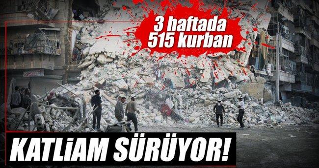 Halep'te katliam sürüyor 95 sivil öldü