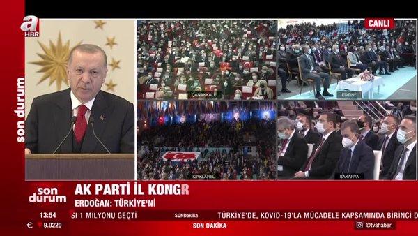 Cumhurbaşkanı Erdoğan 5 İl Kongresine video konferans yöntemi ile katıldı | Video