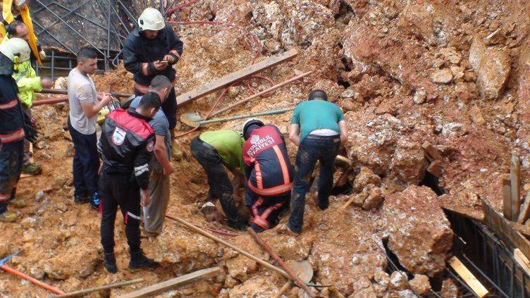 Maltepe'de toprak kayması: 1 ölü