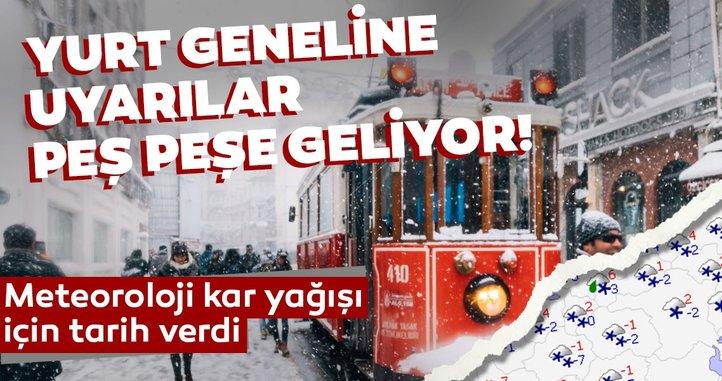 Meteoroloji'den son dakika hava durumu: Kar yağışı için İstanbul dahil birçok ile tarih verildi!