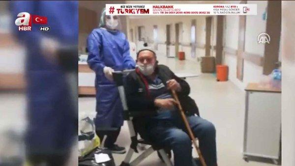 İzmir'de, 84 Yaşında Koronavirüsü Yendi!