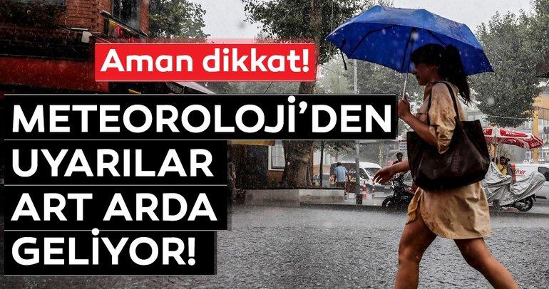 Son dakika! Meteoroloji'den sağanak yağış ve hava durumu uyarısı geldi! 20 Haziran 2019 bugün hava nasıl olacak?
