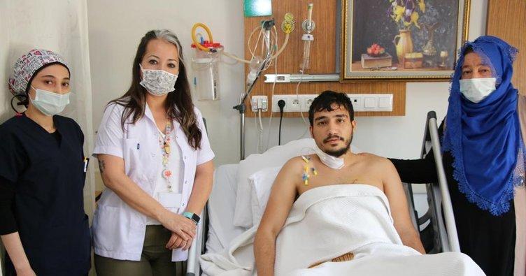 Şanlıurfa'da bıçaklanan gencin hayata döndü