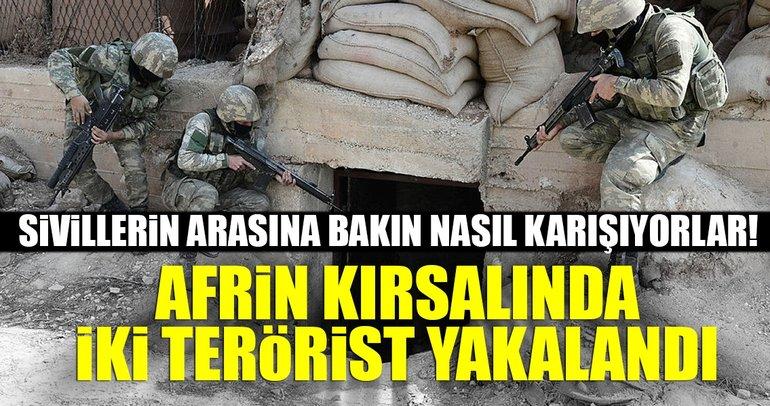 Son Dakika Haberi: Afrin'de iki terörist yakalandı!