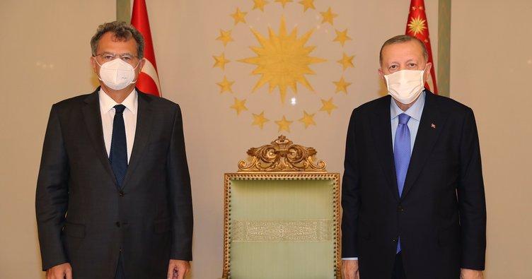 Başkan Erdoğan TÜSİAD Başkanı Simone Kaslowski'yi kabul etti