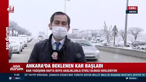Son dakika: Ankara'da beklenen kar yağışı başladı! Kar yağışı ne kadar sürecek? | Video