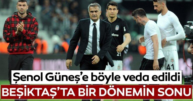 Beşiktaş tribünleri Şenol Güneş'e böyle veda etti! İşte o anlar