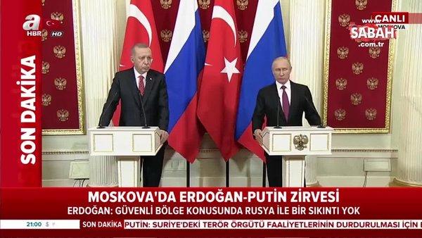 Başkan Erdoğan ve Putin'den çok önemli açıklamalar