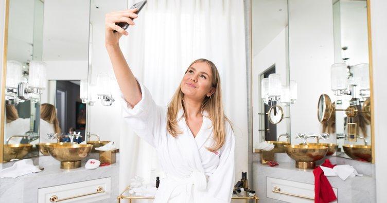 Banyoda selfie çılgınlığı