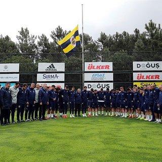 Can Bartu Tesisleri'nde Can Bartu için Fenerbahçe bayrağı yarıya indirildi