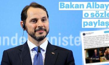 Hazine ve Maliye Bakanı Berat Albayrak'tan BM mesajı