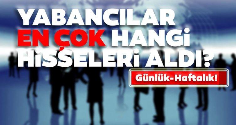 Borsa İstanbul'da günlük-haftalık yabancı payları...
