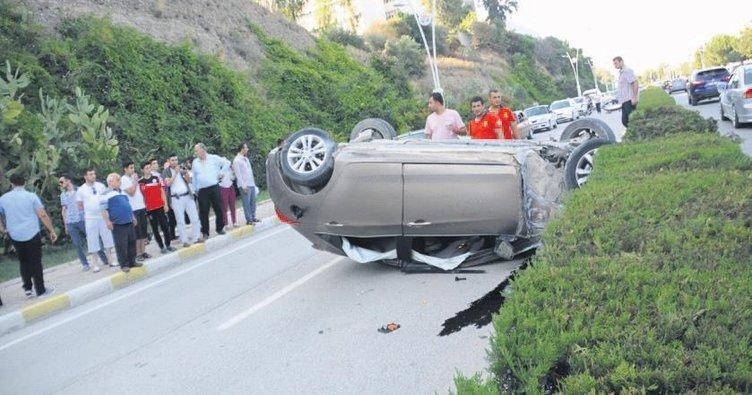 6 kadının kaza şoku