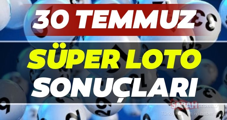 Süper Loto sonuçları açıklandı mı? Milli Piyango 30 Temmuz Süper Loto çekiliş sonuçları MPİ ile hızlı bilet sorgulama BURADA