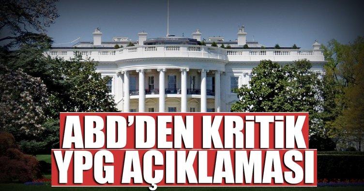 ABD'den flaş YPG açıklaması
