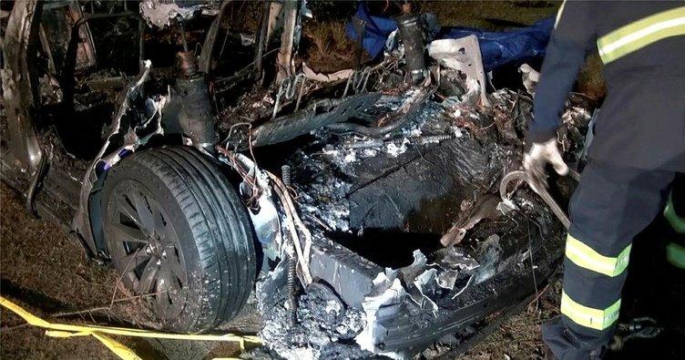 Sürücüsüz Tesla kazasına inceleme! 2 kişi yanarak can vermişti