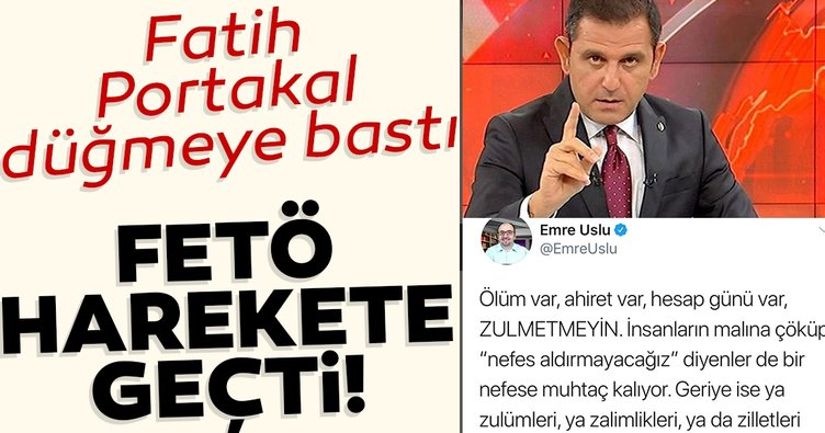 Fatih Portakal düğmeye bastı, FETÖ harekete geçti