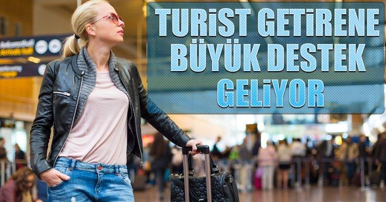 Turist getiren acentelere destek