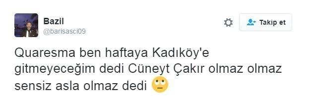 Fenerbahçelilerden Cüneyt Çakır'a sarı kart tepkisi!