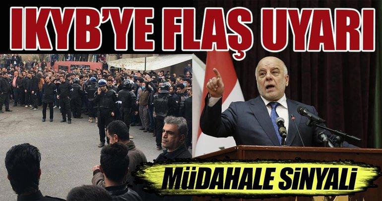 Irak Başbakanı İbadi'den, IKBY'e şok uyarı