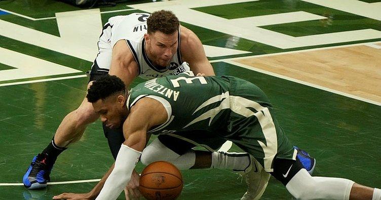 NBA'de Bucks, Nets'i yenerek konferans yarı final serisinde farkı bire indirdi