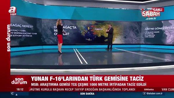 Yunan F-16'larından Türk gemisine taciz! Dedeağaç'ta neler oluyor? | Video