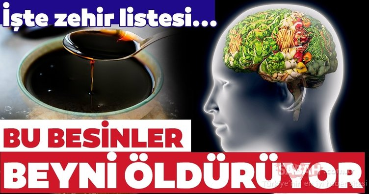Beyin sağlığını olumsuz etkileyen besinler listesi...