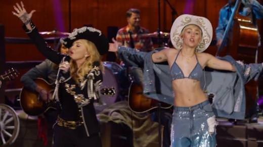Miley Cyrus'a Madonna sürprizi