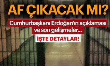Cumhurbaşkanı Erdoğan ve Adalet Bakanı Gül'den genel af haberleri hakkında açıklama... Af çıkacak mı?