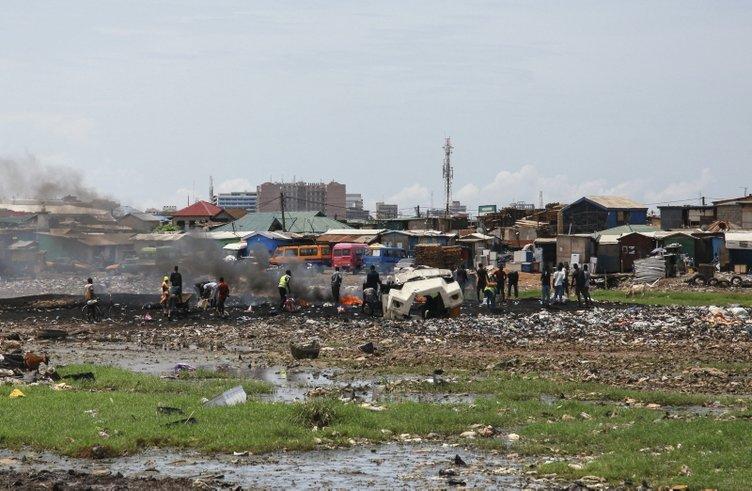 Gana'daki atık merkezi insan sağlığını tehdit ediyor.