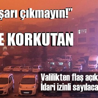 Mardin'de korkutan görüntü!