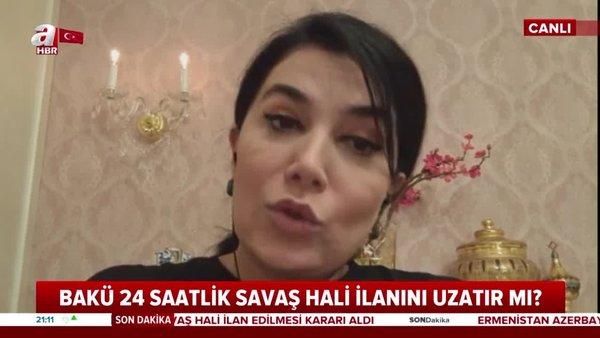 Gazeteci Sevil Nuriyeva A Haber'de konuştu: Türkiye'nin desteği Azerbaycan için büyük güç   Video