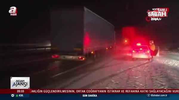 Beklenen kar yağışı Karabük'te başladı | Video