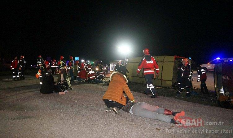 Otobüs kazası ihbarına giden ekipler şok oldu