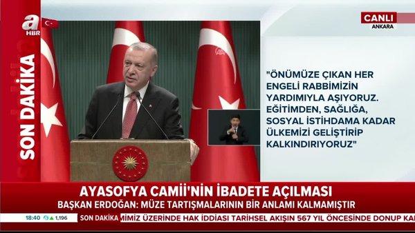 Başkan Erdoğan'dan önemli mesaj: