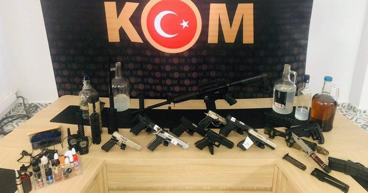 Muğla'da ruhsatsız tabancalar ele geçirildi
