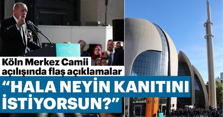Başkan Erdoğan Köln Merkez Camii açılışında konuştu